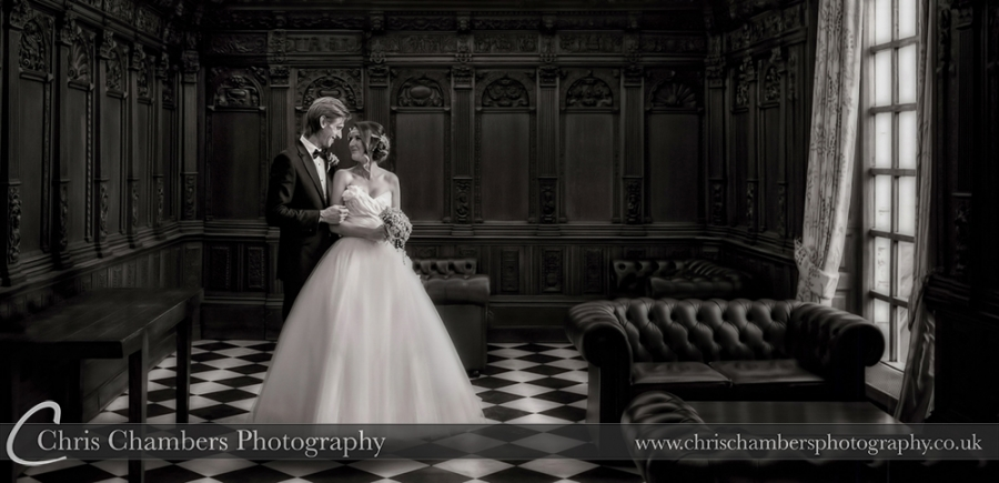 Wedding photography at Hazlewood Castle, West Yorkshire