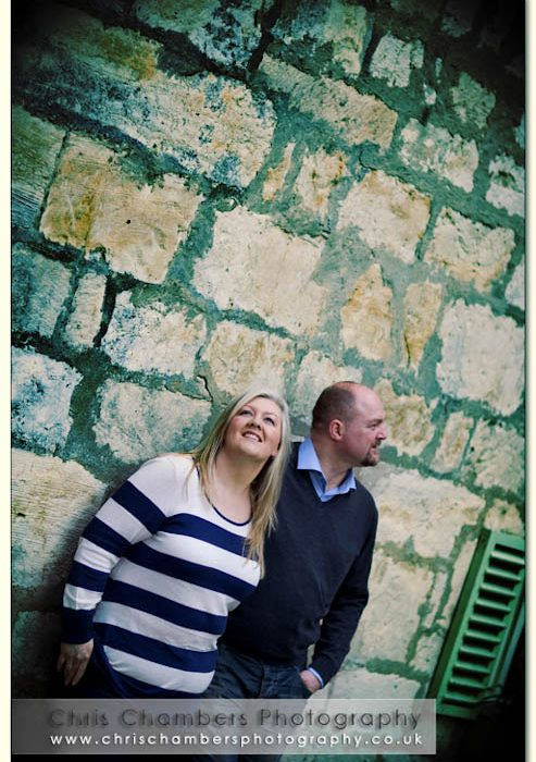 Pre-wedding photo shoot at Hazlewood Castle with Mick and Nicola May 8th 2010
