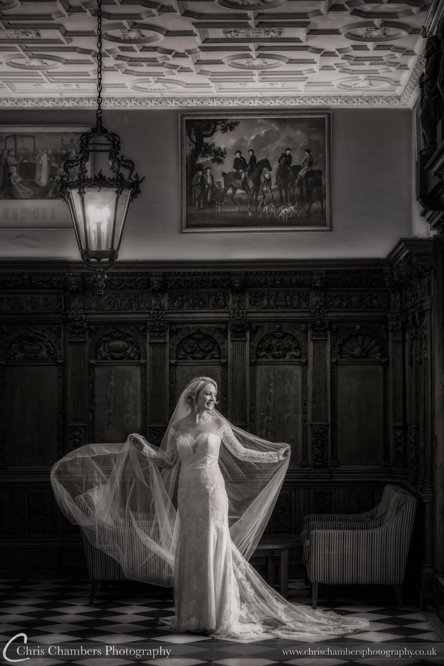 Hazlewood Castle wedding photographs in North Yorkshire, Chris Chambers wedding photography, Bride and groom wedding photographer
