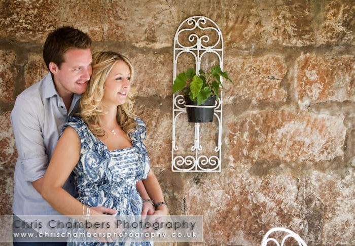 Stephanie and Dan's Pre-wedding photo shoot at Hazlewood Castle near York.