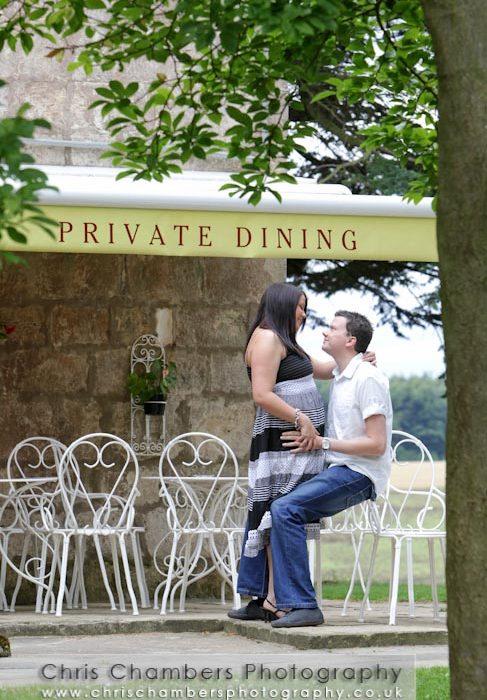 Chris and lydia's Pre-wedding photo shoot at Hazlewood Castle near York