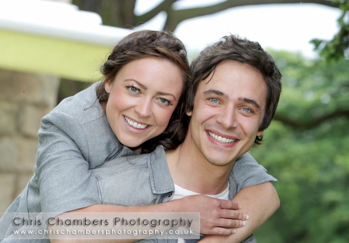 Matthew and Francesca's pre-wedding photo shoot at Hazlewood Castle