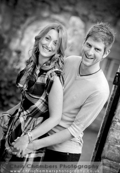 Wayne and Gillian's pre-wedding photo shoot at Hazlewood Castle near York