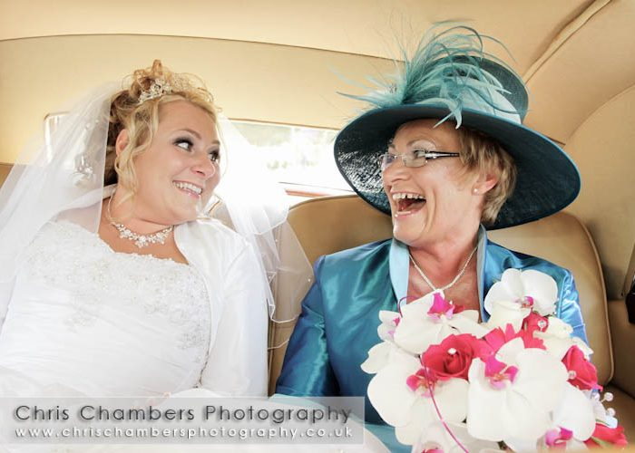 Karen and Mark's wedding photography at Aldwark Manor near York