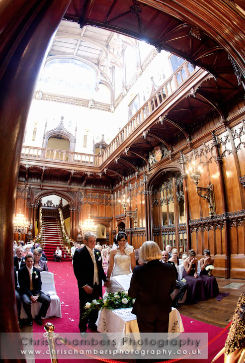 Allerton castle weddings and wedding photography. Award winning wedding photography from chris Chambers, one of the few photographers to be recommended by Allerton Castle