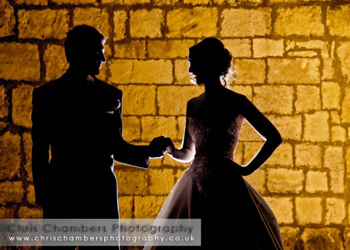 Wayne and Gillian's wedding photography at Hazlewood castle near York