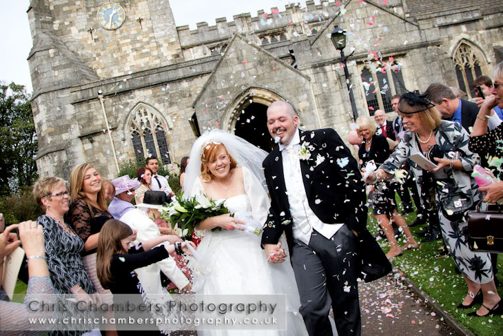 Confetti at Sherburn in Elmet Church - All Saints