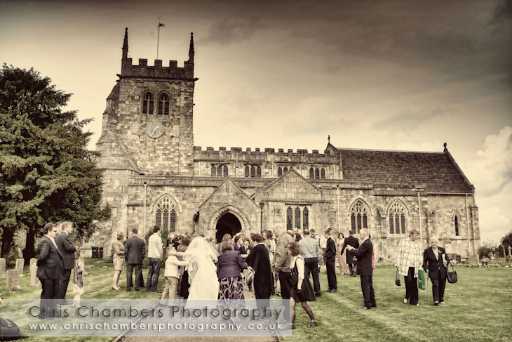 All Saints Church Sherburn in Elmet weddings. Leeds