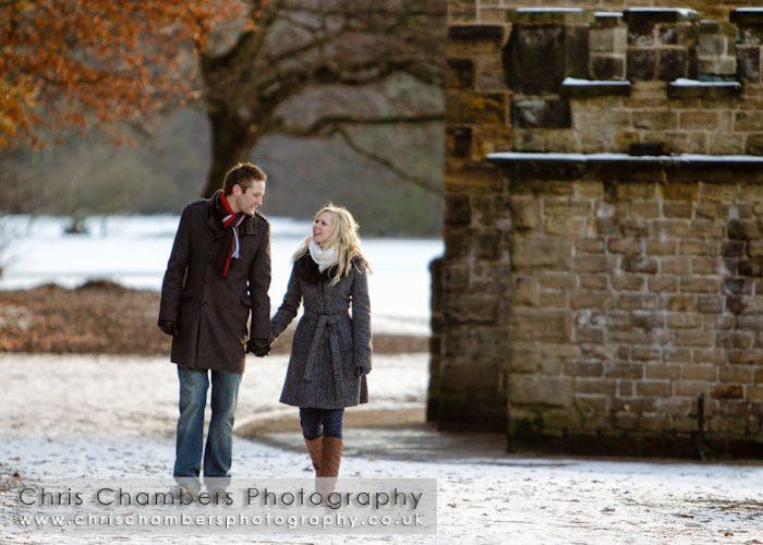 Richard and Helen's pre-wedding photo shoot in Wakefield.