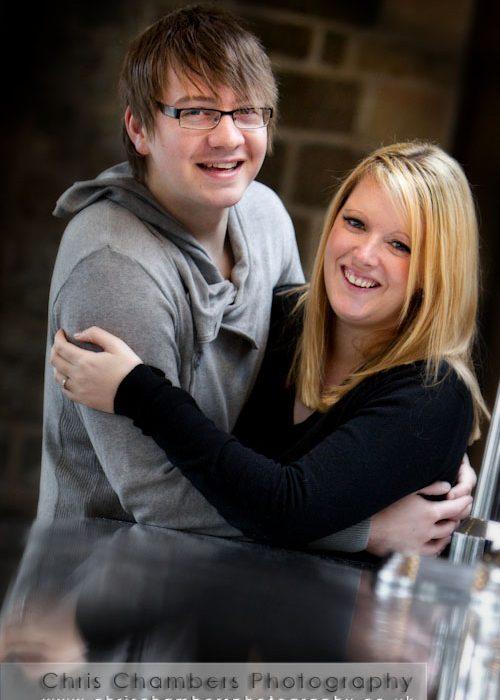Emma and Chris' Pre-wedding photoshoot at Mosborough Hall near Sheffield