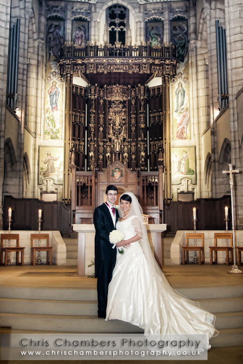 St Annes cathedral weddings leeds : leeds wedding photography : Brasserie Blanc leeds weddings