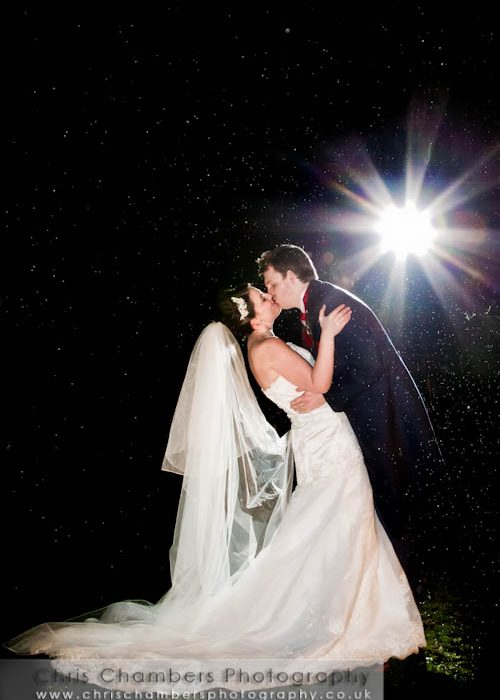 John and Helen's Wedding Photography at a wet Ye Olde Bell Retford - Monday 21st February