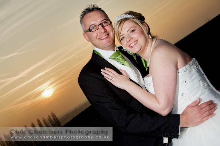 Wedding photography at Kings Croft Pontefract. West Yorkshire wedding photographer Chris Chambers. Sunset at Kings Croft on a wedding day.