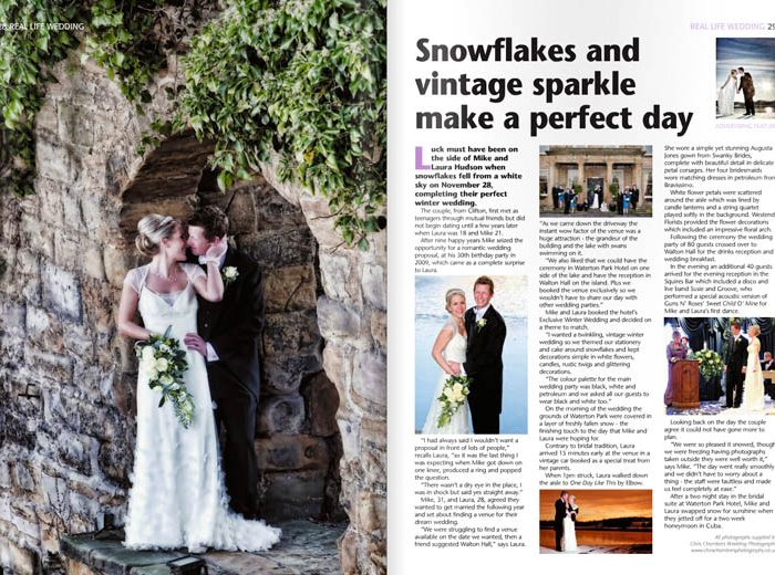 Mosaic Brides Magazine feature Chris Chambers Photography wedding