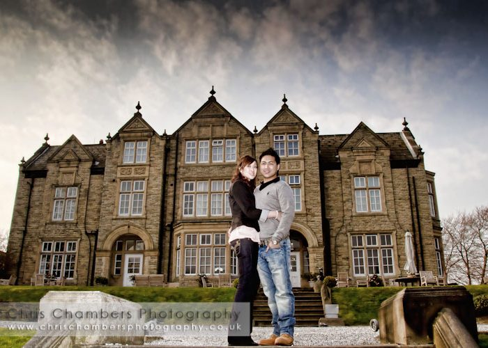 Ha and tac's pre-weding photo shoot at Woodlands Hotel Gildersome