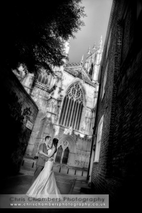 wedding photography at The Churchill hotel in York. York wedding photographs from award winning Yorkshire wedding photographer Chris Chambers