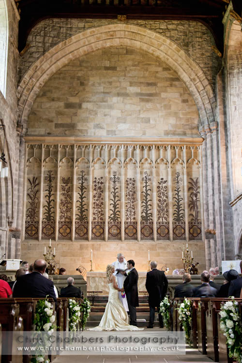 Bolton Abbey wedding photographs - inside the priory at Bolton Abbey