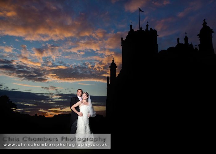 Allerton Castle weddings - Stunning Allerton Castle sunset