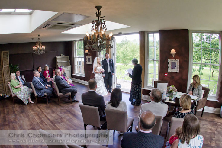 Civil wedding ceremony at Yorebridge House North Yorkshire