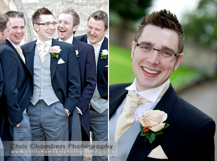 Wedding photography at Hazlewood Castle near York