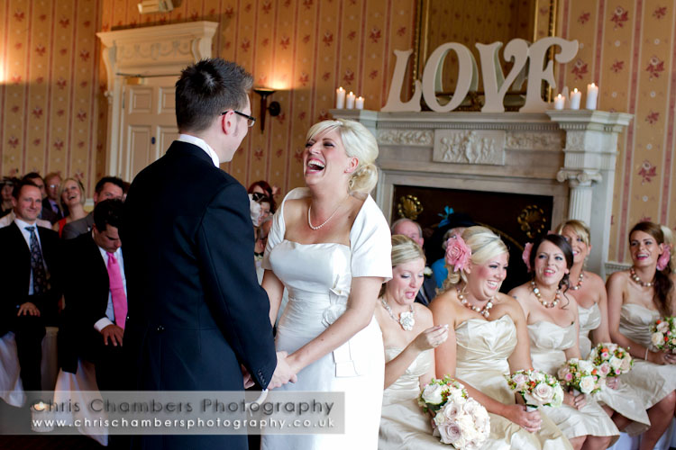 Hazlewood Castle wedding ceremony photographs
