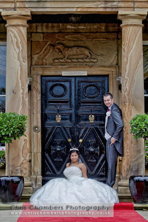Bride and groom at Walton hall