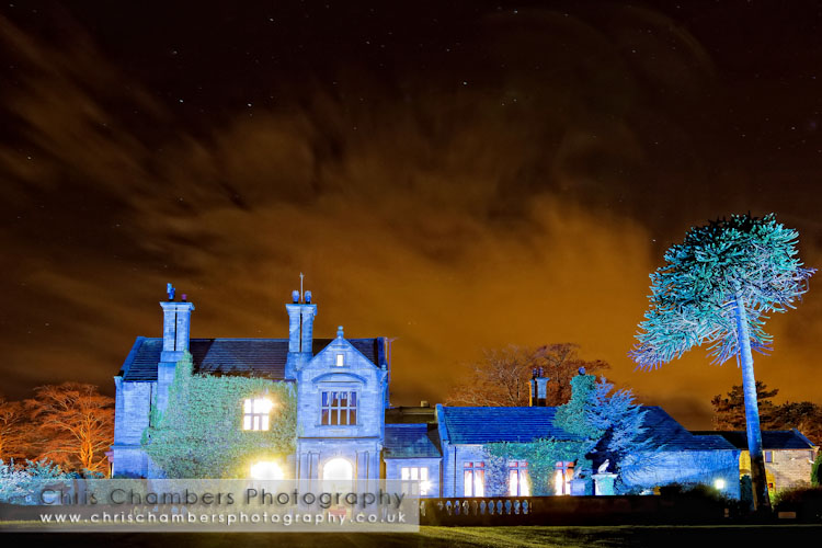 Bagden Hall at night