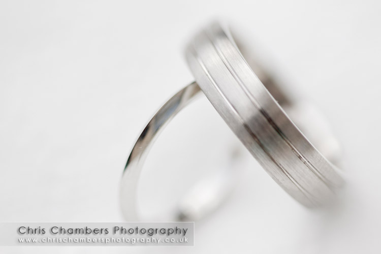 Hazlewood Castle wedding photograph - wedding rings from Tiffany's photograph of wedding rings on the wedding day