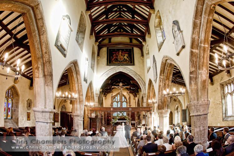 wedding ceremony photograph at Burnsall