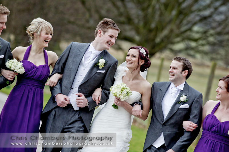 Wedding photography at Swinton Park near Masham North yorkshire. Swinton Park wedding photographs