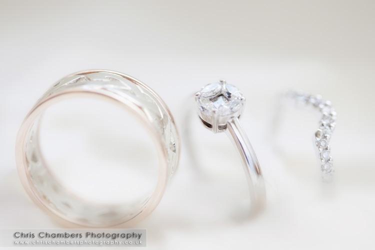 Wedding rings at Walton Hall at Waterton Park Hotel wedding photographer. Gary and Ruth's wedding photographs.
