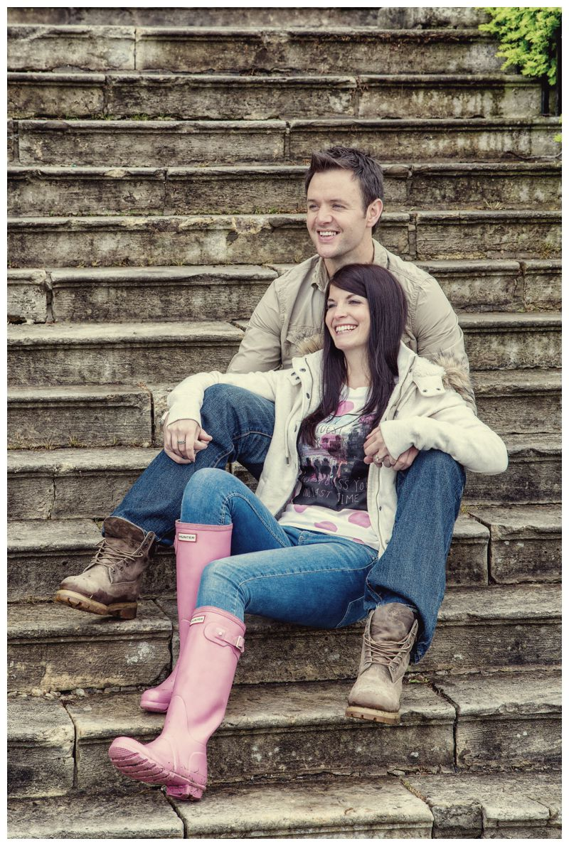 Hazlewood Castle pre-wedding photography - engagement photos at Hazlewood Castle