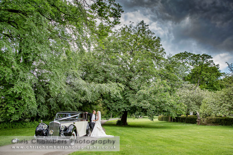 wedding cars at Hazlewood Castle