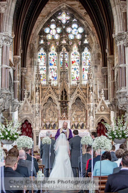 Weddings photos at Rudding Park Harrogate -In the chapel at Rudding Park