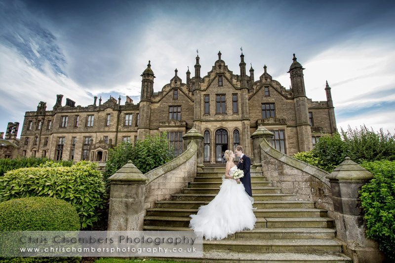 Allerton Castle wedding photography. Wedding photos from Allerton Castle North Yorkshire