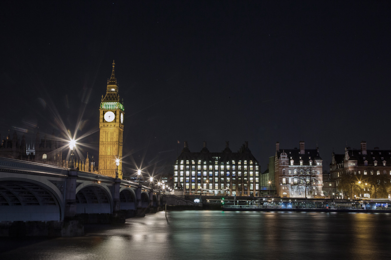 London at night photography