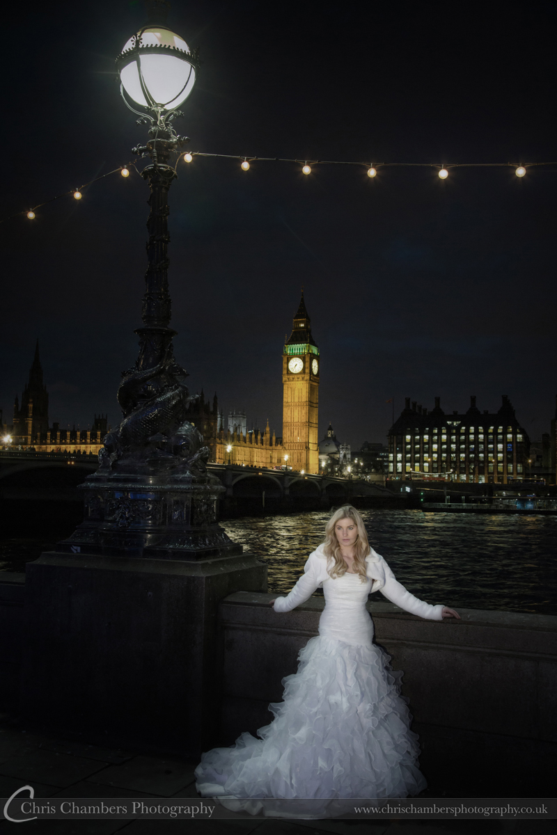Bride and big ben, river thames and houses of Parliament