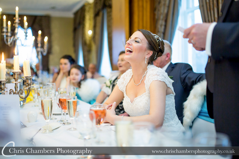 The speeches at Waterton Park Hotel. Wedding photography at Walton Hall