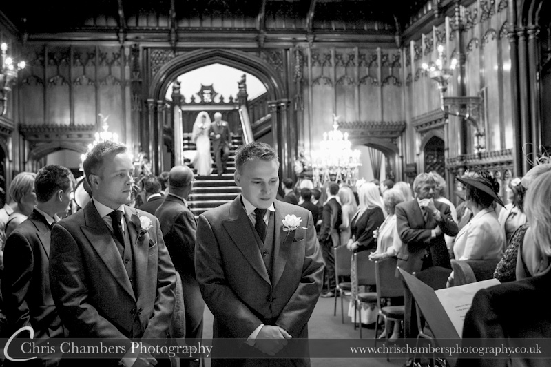 Allerton Castle Staircase - the brides entrance
