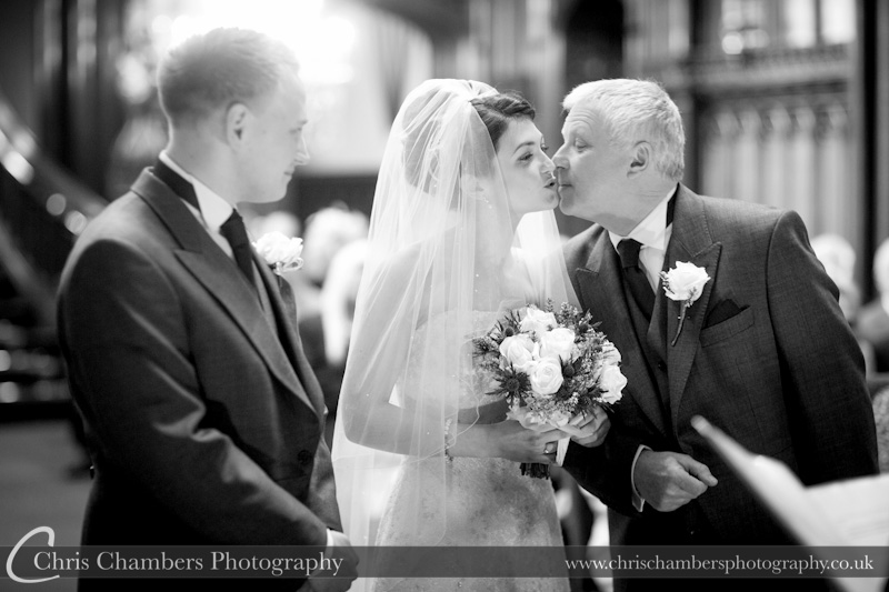 Wedding photograph during the ceremony at Allerton Castle