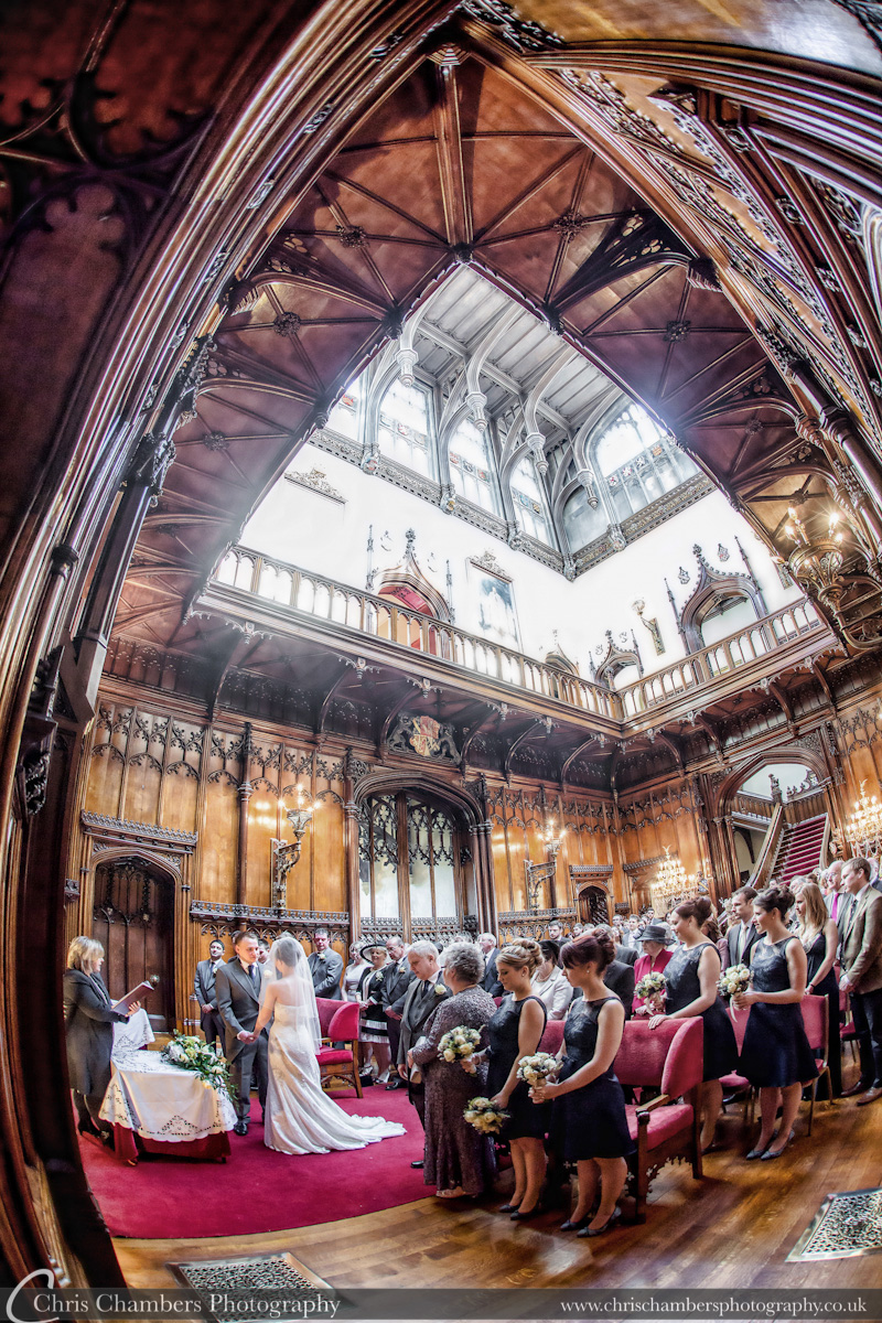 Wedding photograph during the ceremony at Allerton Castle - Allerton Castle wedding photos