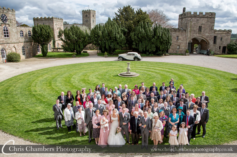 Wedding photo at Ripley Castle - the large group photo