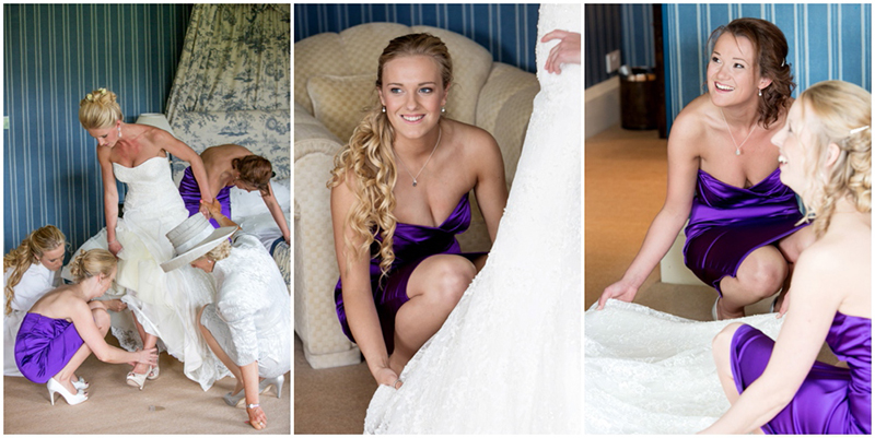 Swinton Park wedding photographer - Bride getting ready in the bridal suite