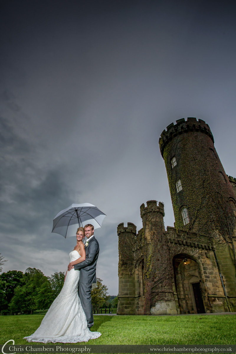 Bride and Groom at Swinton Park North Yorkshire. Wedding photo