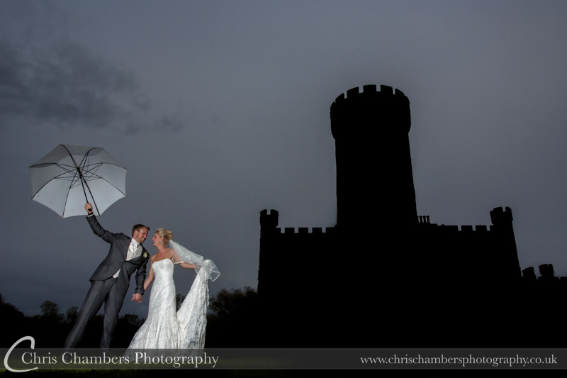 Bride and Groom at Swinton Park North Yorkshire