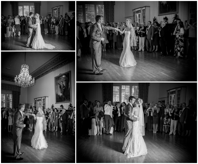 Swinton park wedding photograph - the bride and groom's wedding day at Swinton park