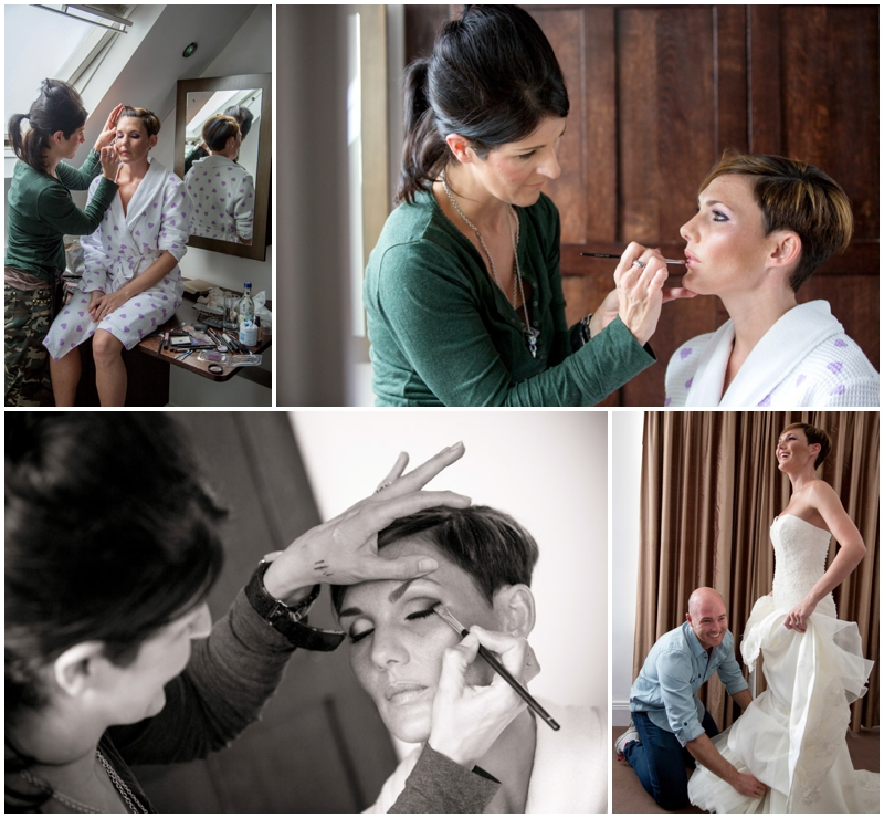 Bridal Prep photos at Woodlands Hotel Leeds - wedding photographs