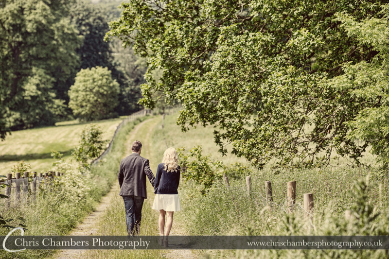 Hazlewood-castle-wedding-photographers-pre-wedding-shoot with Ian and Lisa. Engagement photography sessions