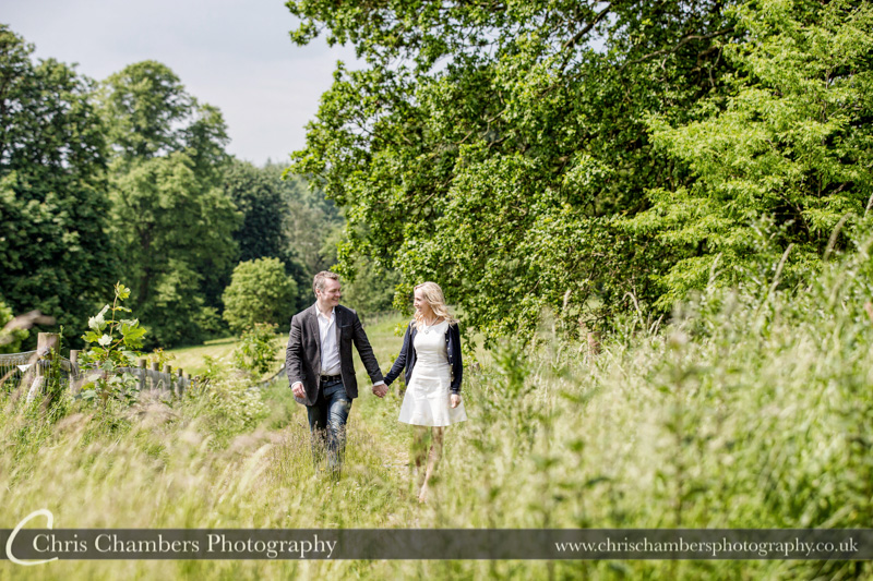 Hazlewood Castle engagement photography