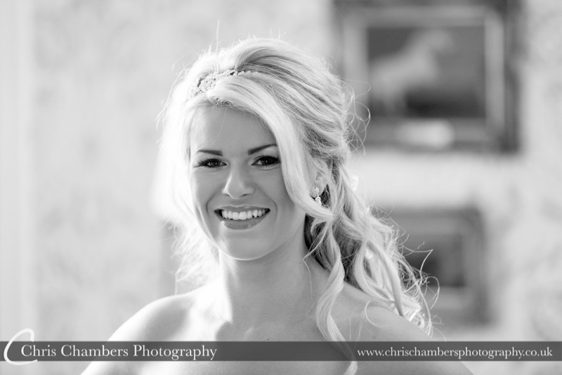 wedding photography at Hodsock Priory in Nottinghamshire - bride getting ready at Hodsock Priory